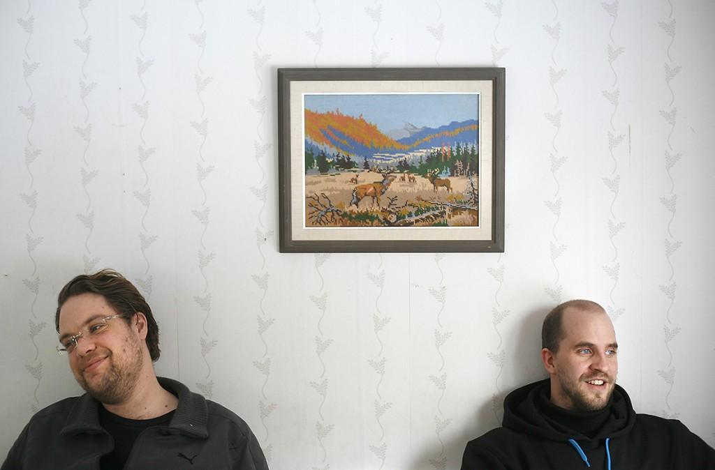 Carl Englén och Mattias Fransson i humorgruppen Klungan.