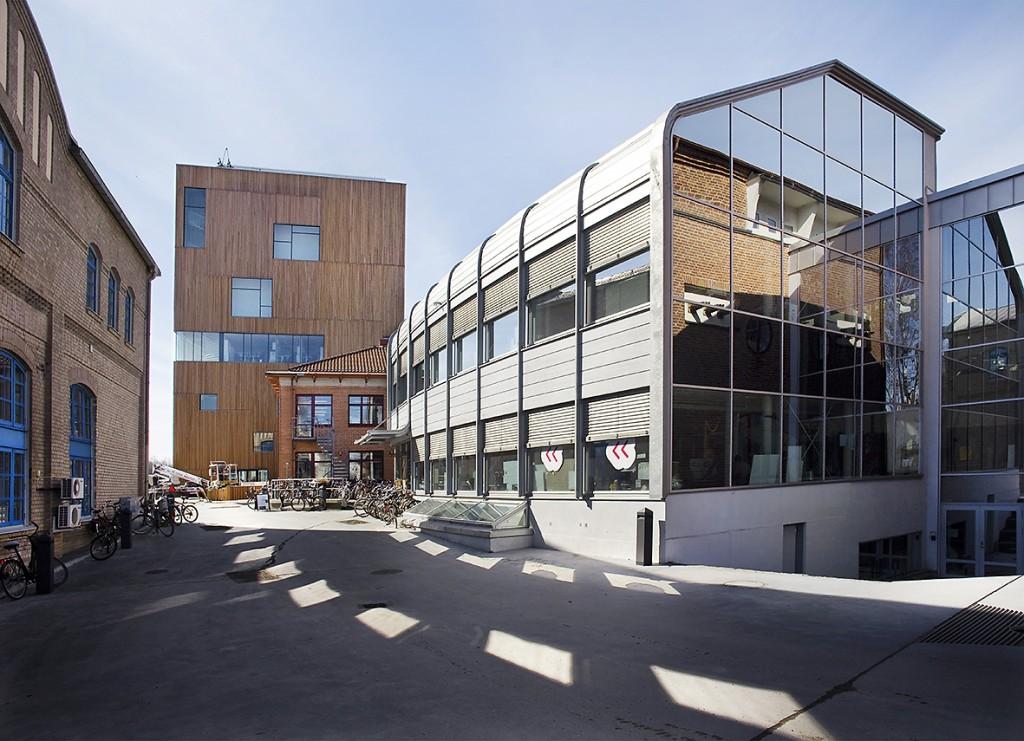 Designhögskolan på konstnärligt campus vid Umeå Universitet.