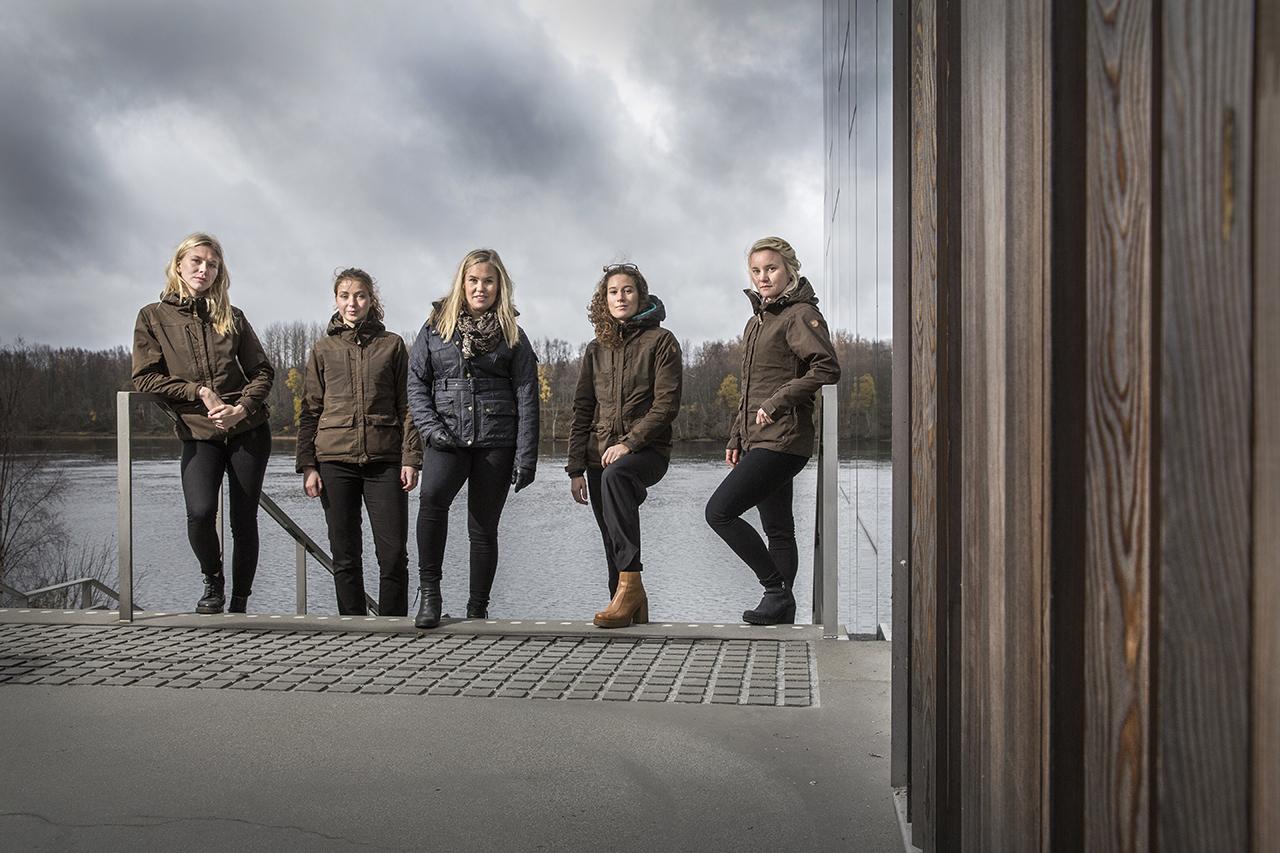 Studenter som går utbildning till Jägmästare.